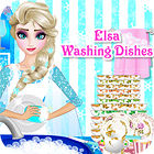 Elsa Washing Dishes Spiel