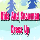 Kids And Snowman Dress Up Spiel