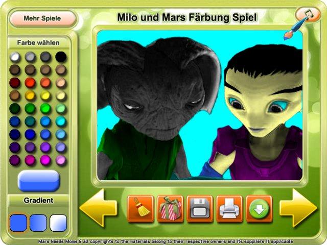 Mars Needs Moms Coloring