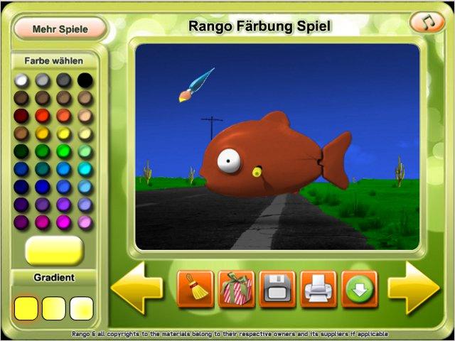 Rango Coloring Game