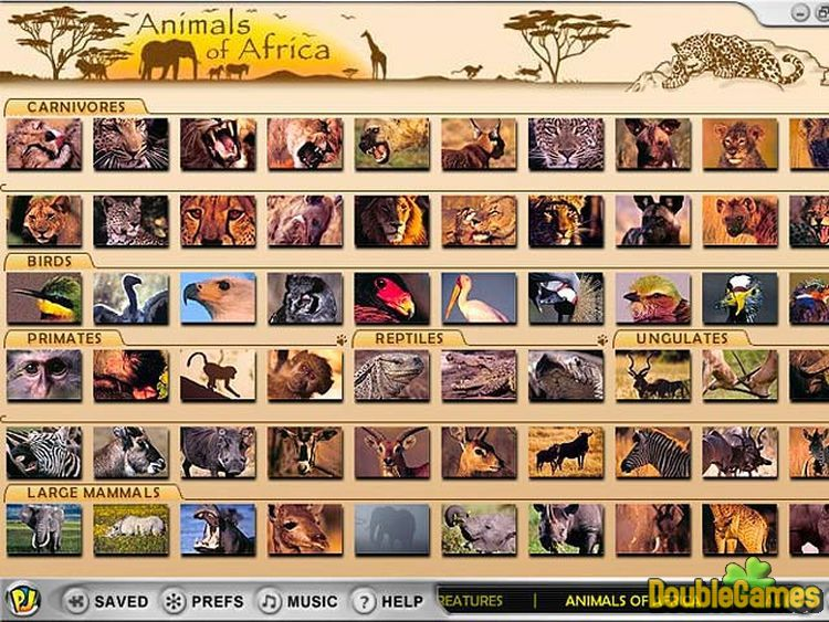 Free Download Animals of Africa Screenshot 1