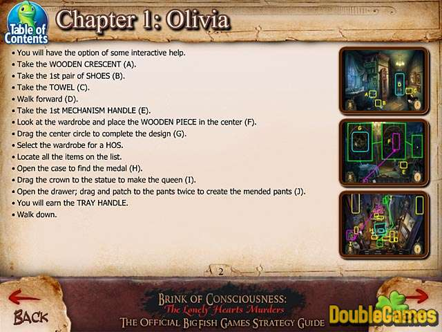 Kostenloser Download Brink of Consciousness: The Lonely Hearts Murders Strategy Guide Screenshot 1