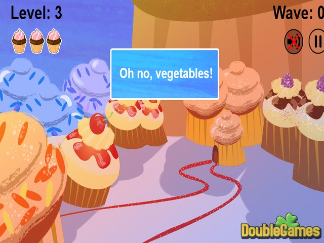 Kostenloser Download Cupcakes VS Veggies Screenshot 2