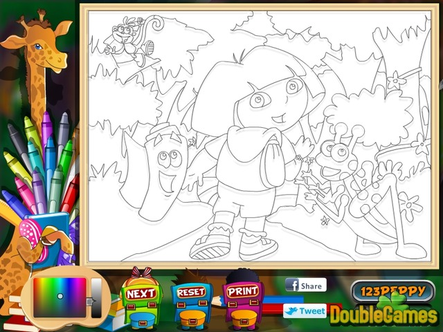 Dora Coloring Pages - Free Printables - MomJunction | 480x640