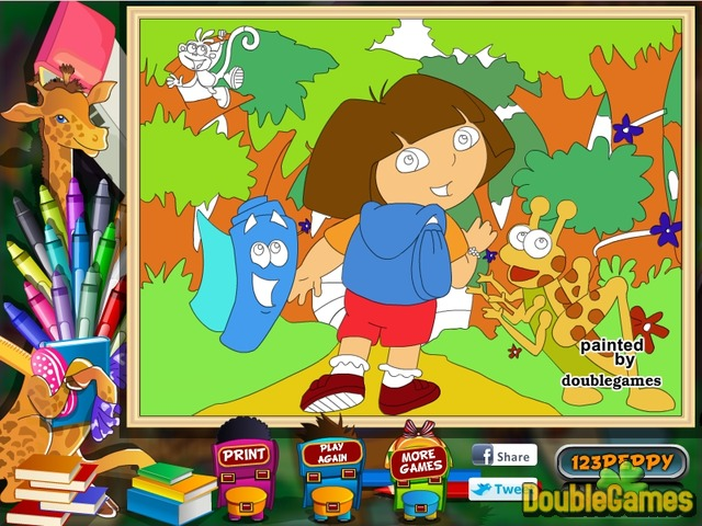 Dora the Explorer: Online Coloring Page Online Game