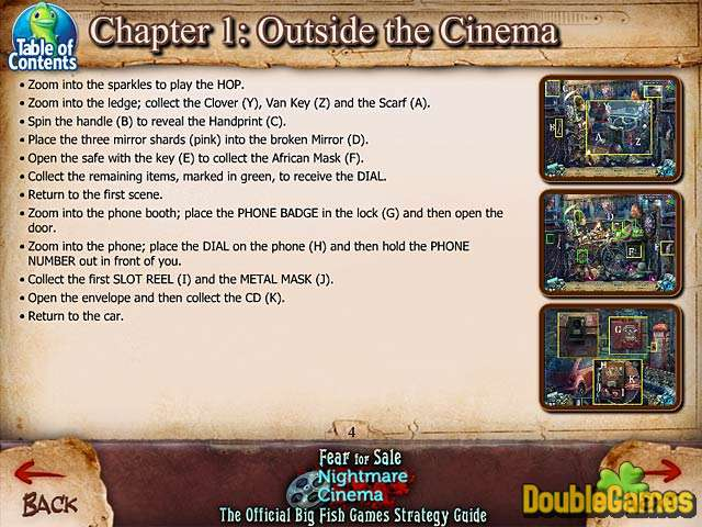 Kostenloser Download Fear For Sale: Nightmare Cinema Strategy Guide Screenshot 1