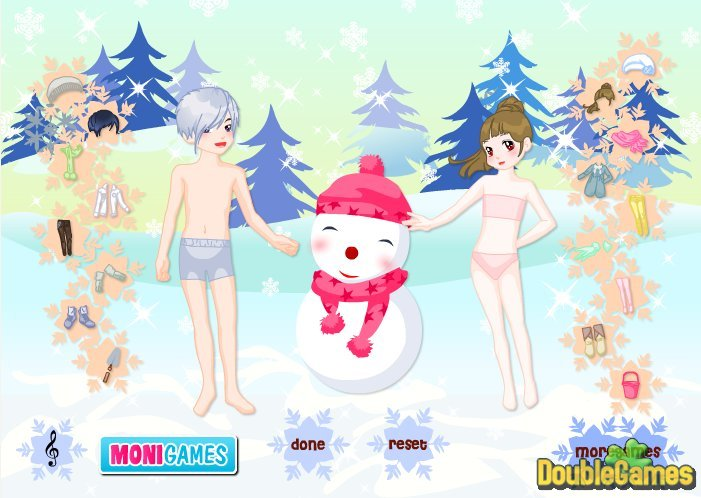 Kostenloser Download Kids And Snowman Dress Up Screenshot 1