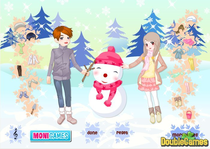 Kostenloser Download Kids And Snowman Dress Up Screenshot 2