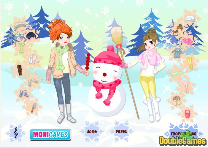 Kostenloser Download Kids And Snowman Dress Up Screenshot 3