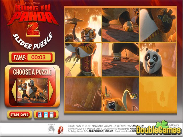 Kostenloser Download Kung Fu Panda 2 Puzzle Slider Screenshot 1