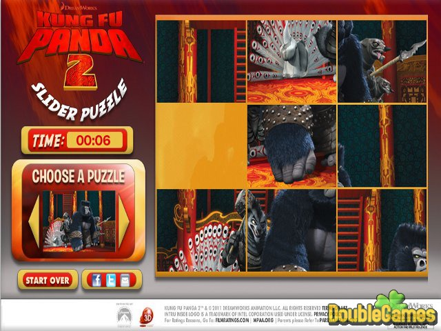 Kostenloser Download Kung Fu Panda 2 Puzzle Slider Screenshot 2