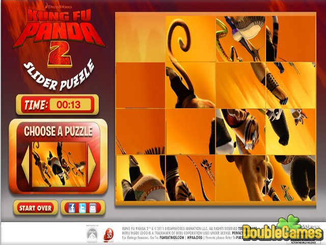 Kostenloser Download Kung Fu Panda 2 Puzzle Slider Screenshot 3