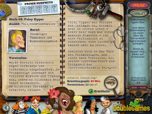 Kostenloser Download Mystery Case Files Prime Suspects Screenshot 1