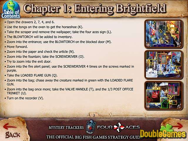 Free Download Mystery Trackers: The Four Aces Strategy Guide Screenshot 1