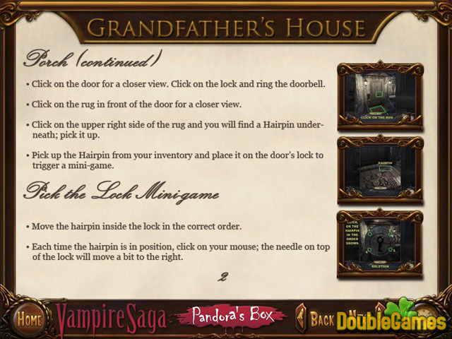 Kostenloser Download Vampire Saga: Pandora's Box Strategy Guide Screenshot 2